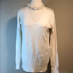 Old navy v- neck wool long sleeve ivory sweater